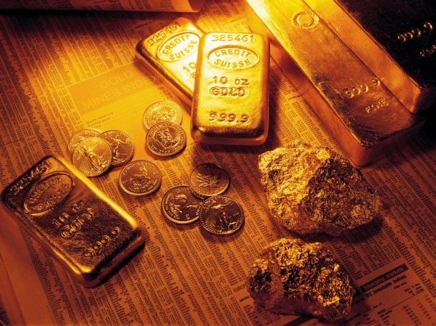 gold bullion, gold coins, raw gold