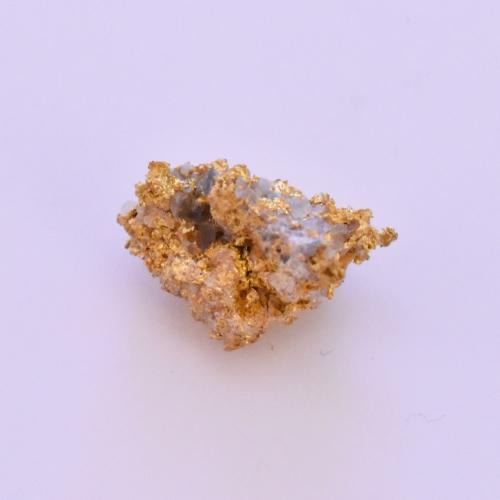 Raw Gold Nugget in Quartz Specimen