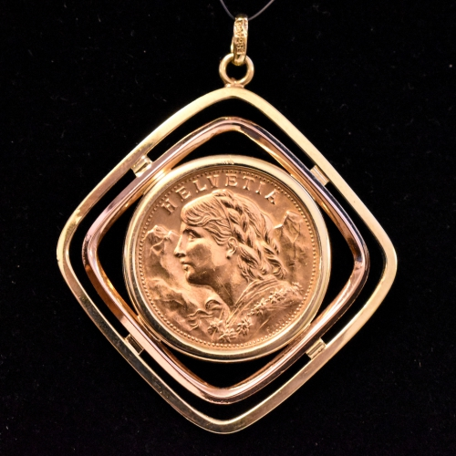 Fine Gold 20 Franc Pendant