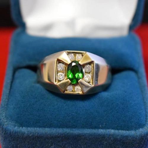 Yellow Gold Diamond & Gem Ring