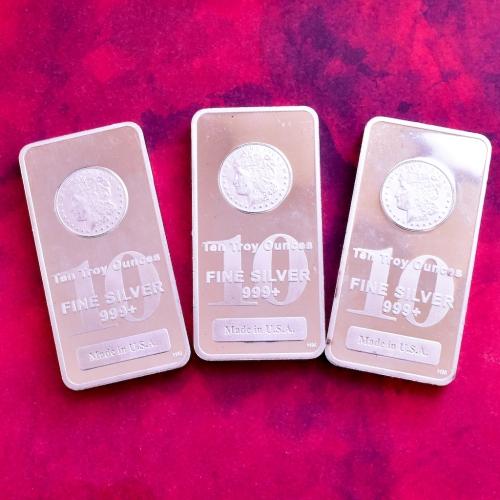 Fine Silver 10 OZ Bullion Bars