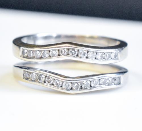 White Gold Diamond Wedding Ring Jacket