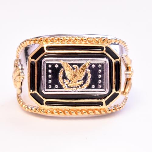 Sterling Silver Bullion Ring