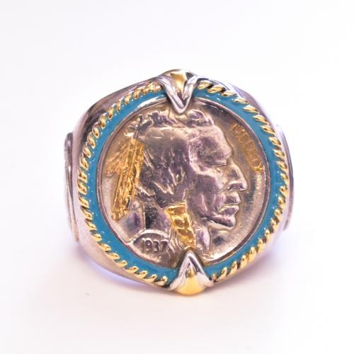 Sterling Silver Buffalo Head Ring