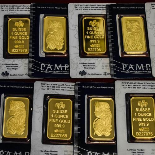 Fine Gold Pamp Suisse Bars