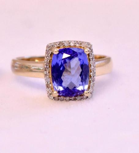 10K Yellow Gold Diamond & Gem Ring