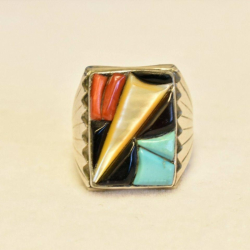 Vintage Old Pawn Turquoise Mens Ring